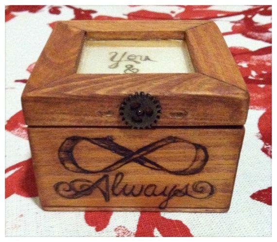 Wood box engraved wedding ring trinket keepsake by kellyloughran, $28.00
