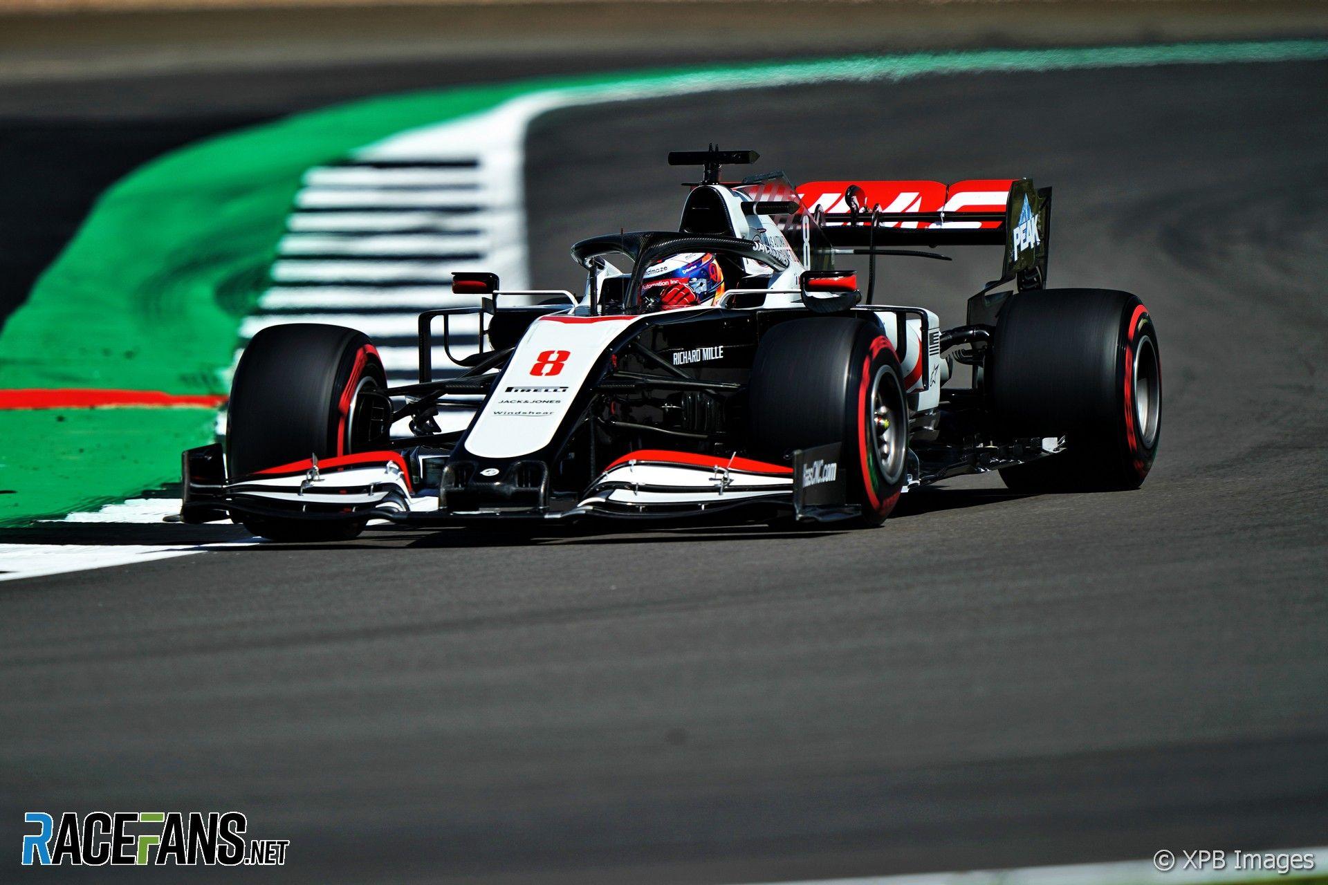 Romain Grosjean Fra Haas F1 Team Vf 20 31 07 2020 Formula 1 World Championship Rd 4 British Grand Prix Sil In 2020 British Grand Prix Grand Prix Romain Grosjean
