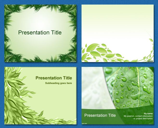 Free Powerpoint Templates Leaves