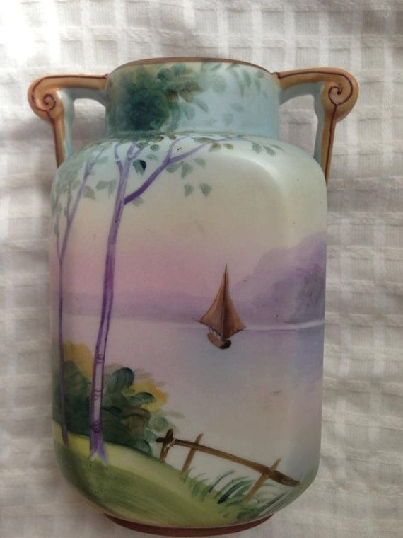 Hand Painted Antique Nippon Vase By Piealafaux On Etsy Nippon