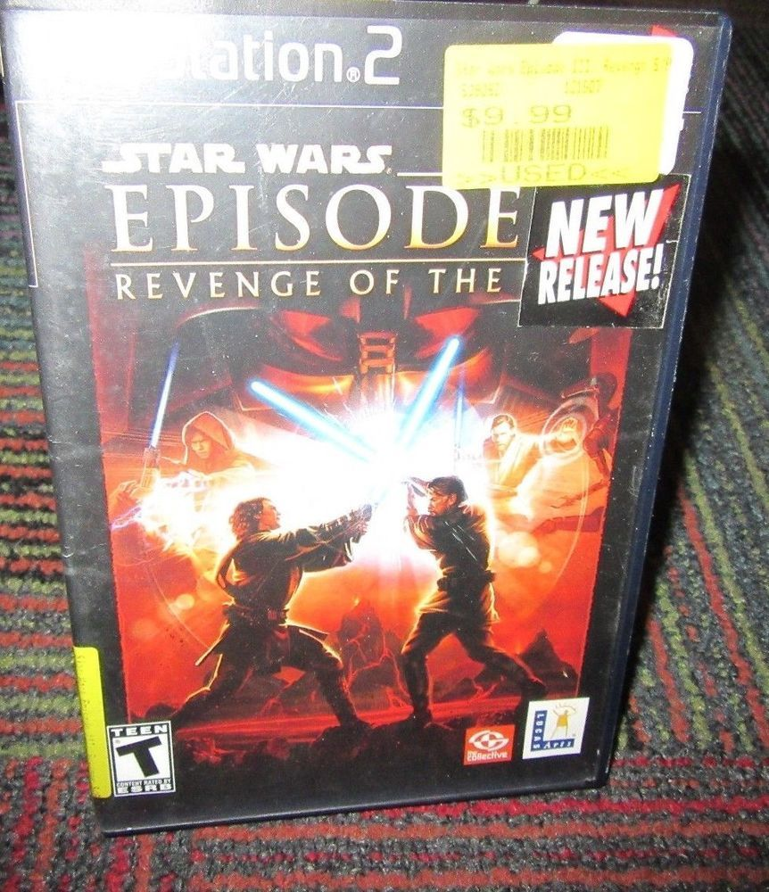 Star Wars Episode Iii Revenge Of The Sith Game For Playstation 2 Ps2 Complete Star Wars Episodes Revenge Sith