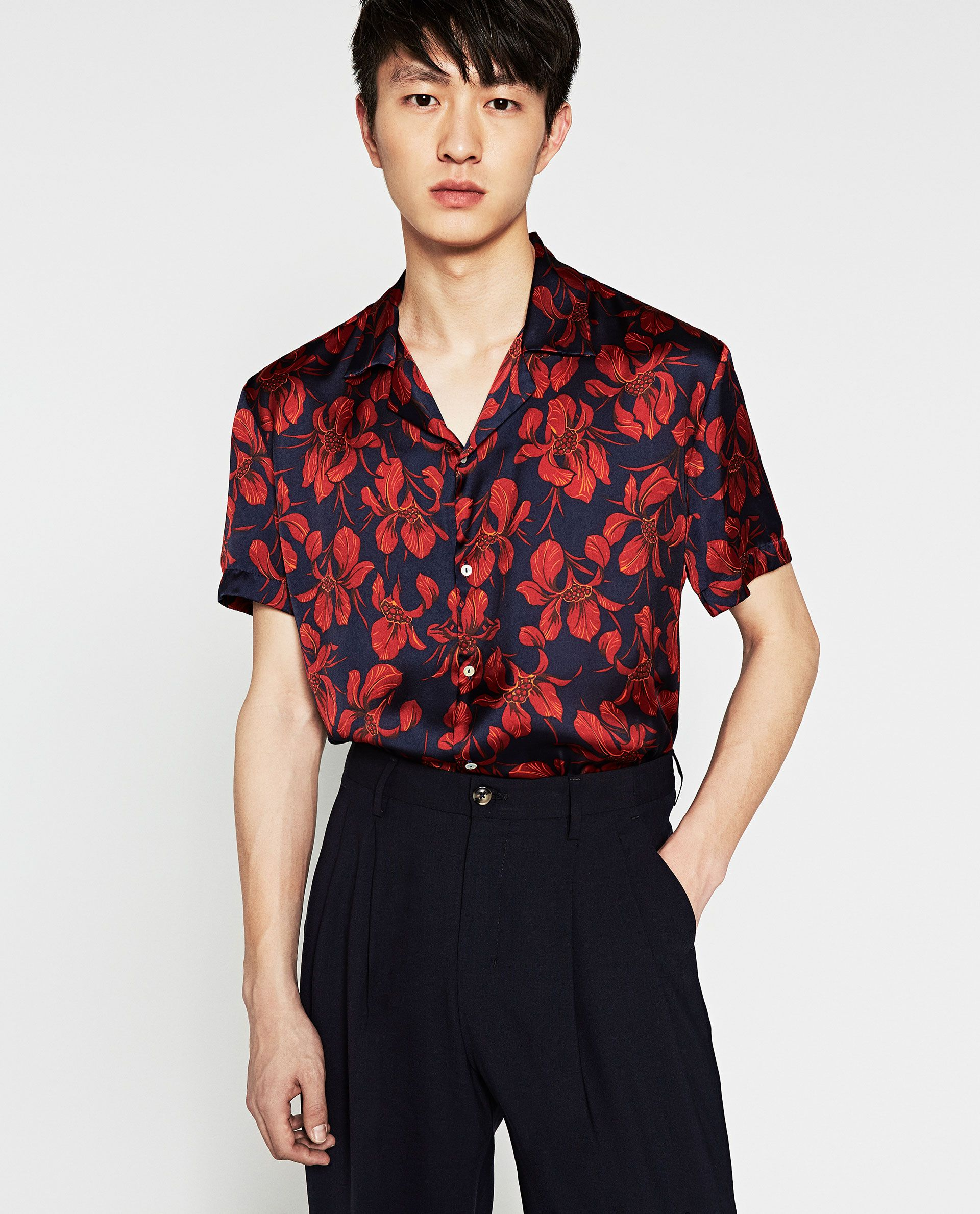 Printed floral shirt men 39 s shirt pinterest men for Zara mens floral shirt