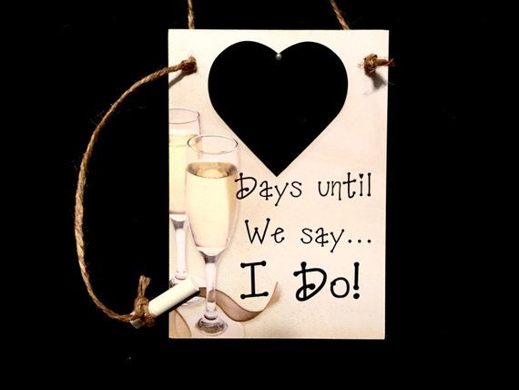 Engagement Gifts For The Couple  Wedding Countdown   U0026quot Days