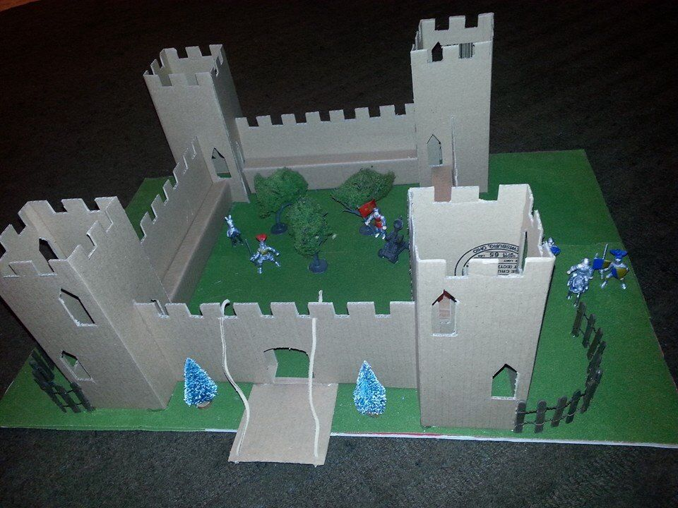 how to build a wooden medieval castle