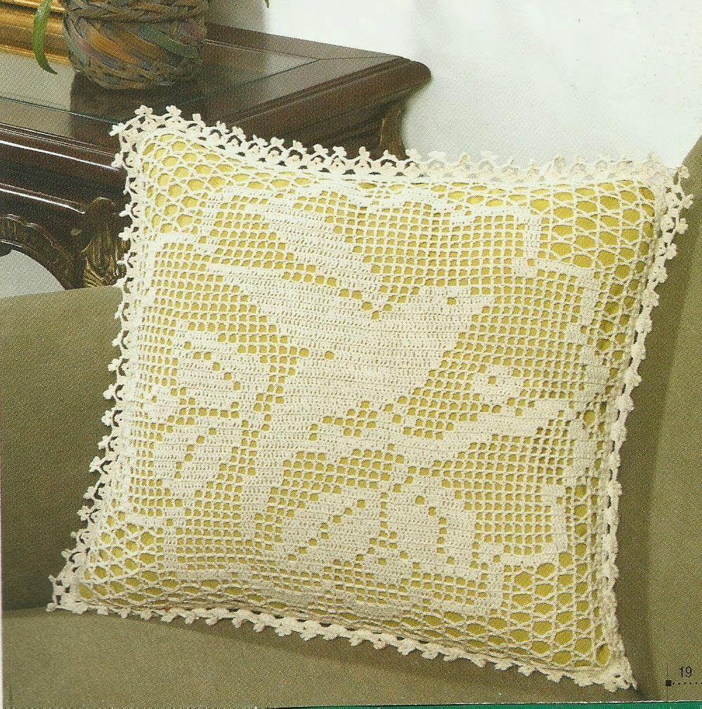 Almofada De Passaro Com Grafico Catia Croche Com Imagens