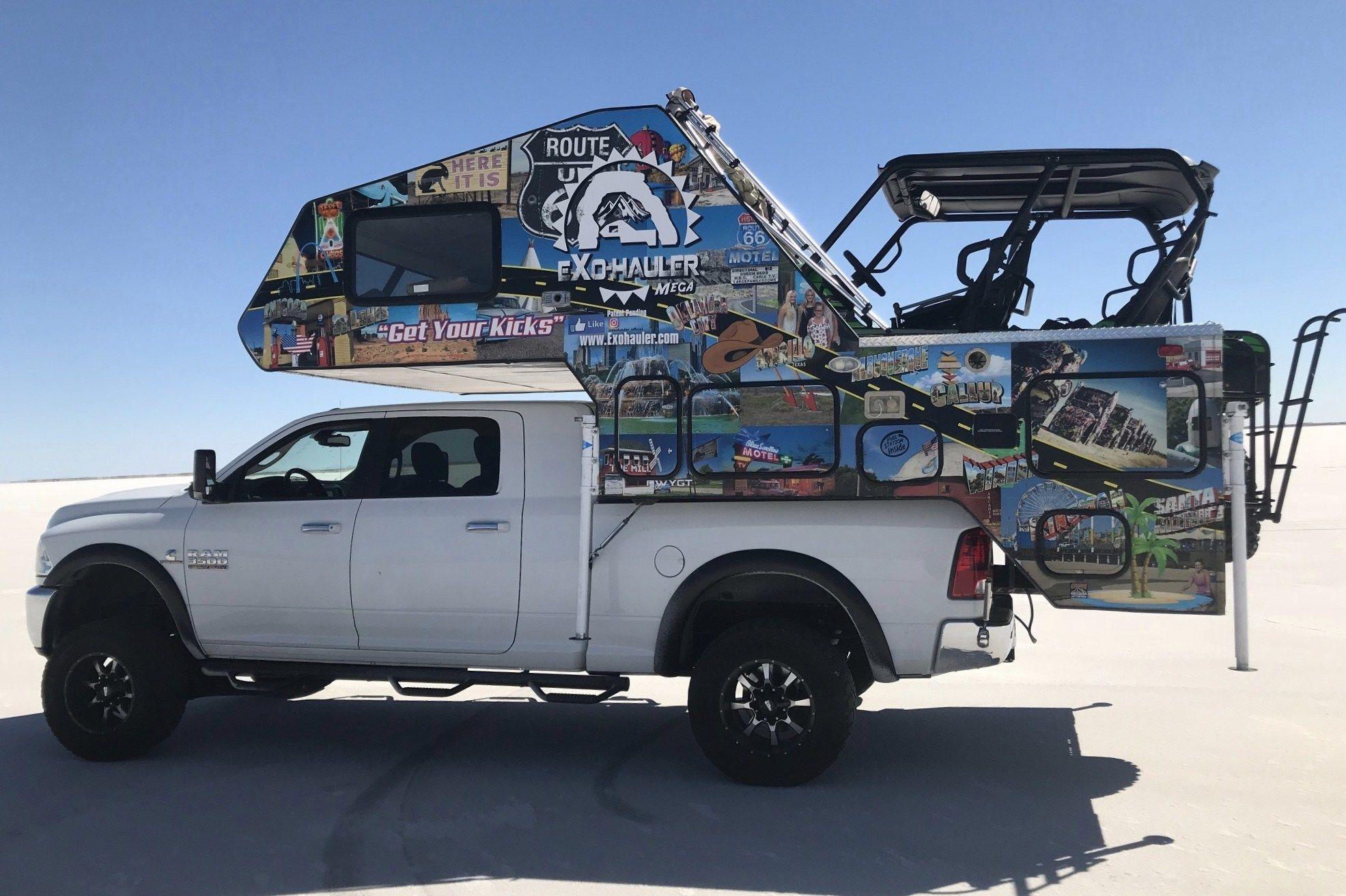 Exohaul Reveals Revolutionary Toy Hauler Truck Camper Truck