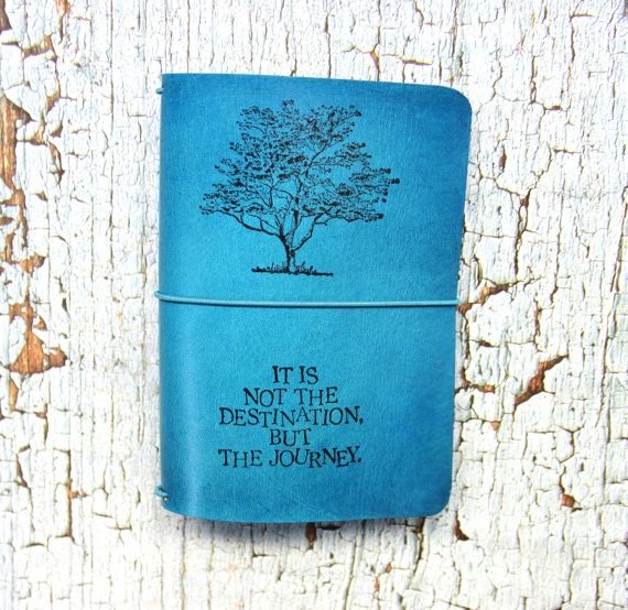 Midori Travelers Notebook - TREE OF LIFE - Leather Midori - field note