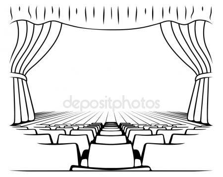 Pobieraj  Czarnobiay rysunek scena teatralna