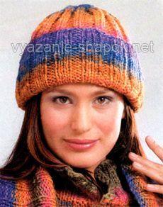 зимняя шапка спицами с отворотом вязание шапок женские шапки