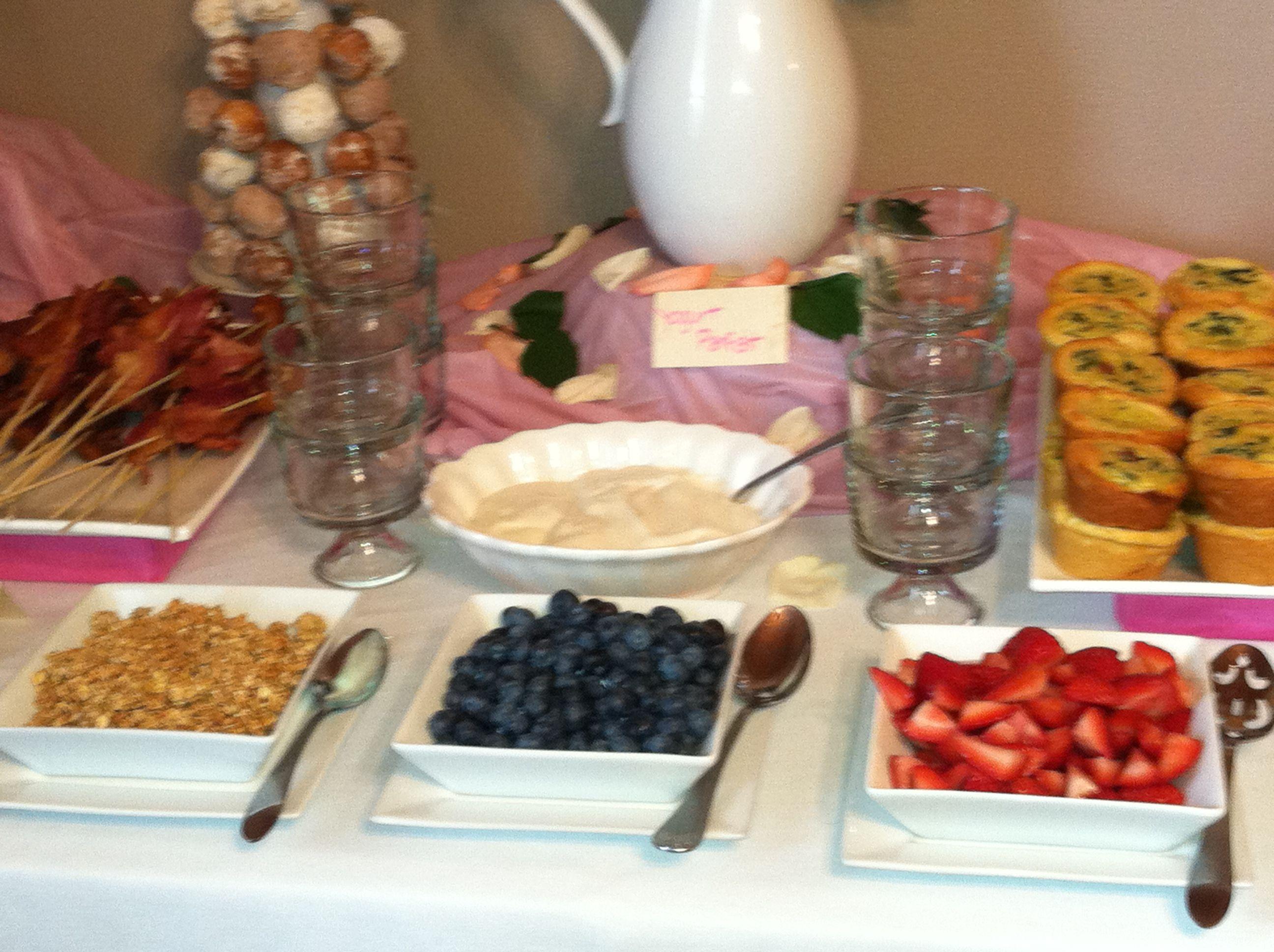 bridal shower yogurt parfait bar for baptism brunch yogurt parfait bar parfait desserts yogurt bar