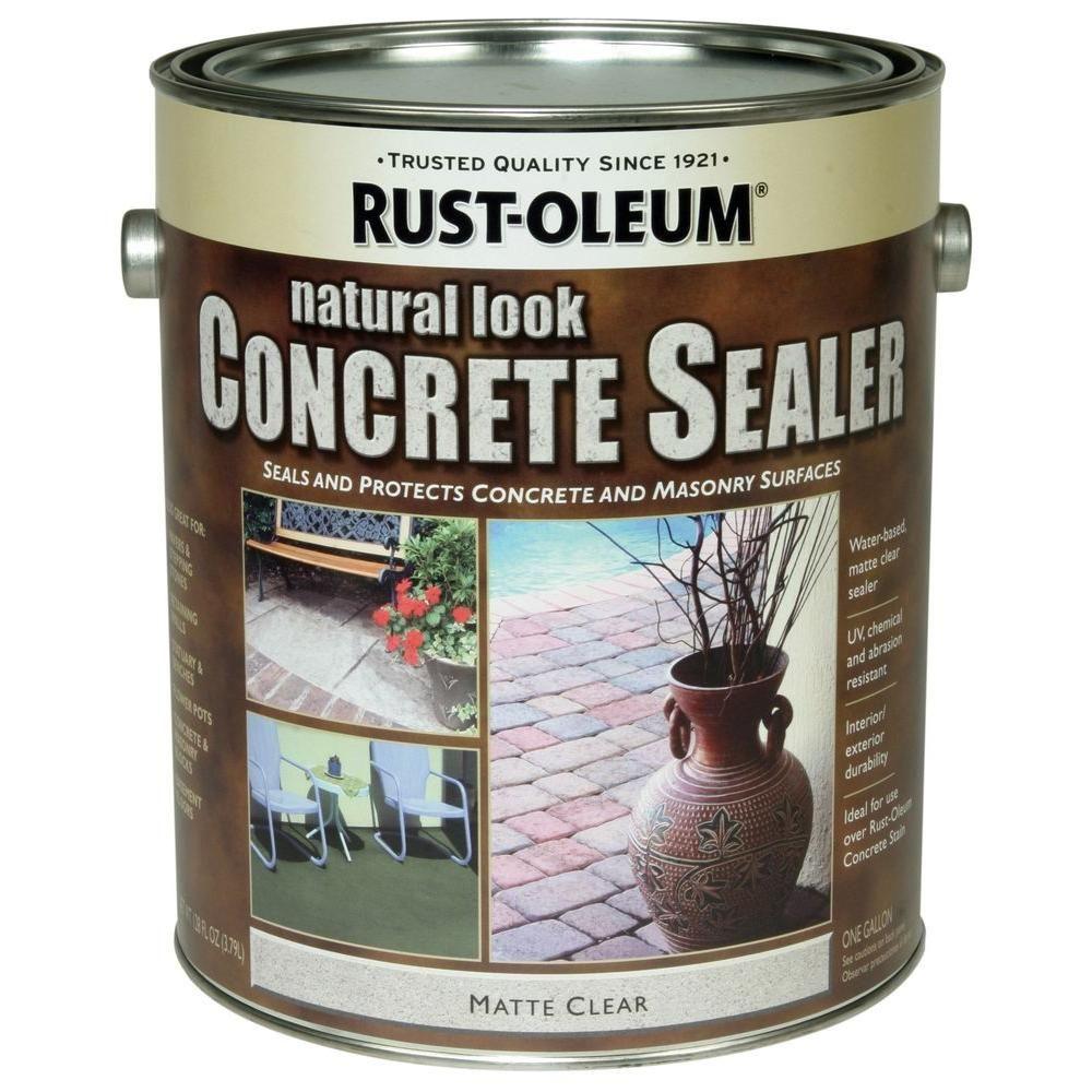 RustOleum Concrete Stain 1 gal. Natural Sealer (Case of 2