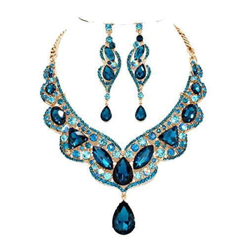 Affordable Wedding Teal Aqua Blue Ab Rhinestone Gold Chain Necklace Jewelry Earring Set Bridesmaid Bridal Affordable Wedding Jewelry http://www.amazon.com/dp/B012DSQINO/ref=cm_sw_r_pi_dp_sS2qwb1QHQQWH