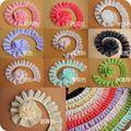 Hot Predaj 10colors Doule vrstvy Skladaný čipky obloženie Mesh Svadobné dekorácie DIY Crafts Šírka 5 cm 10Yds / lot