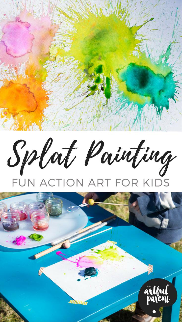 Splat Painting Action Art For Kids Growing Creative Kids Art