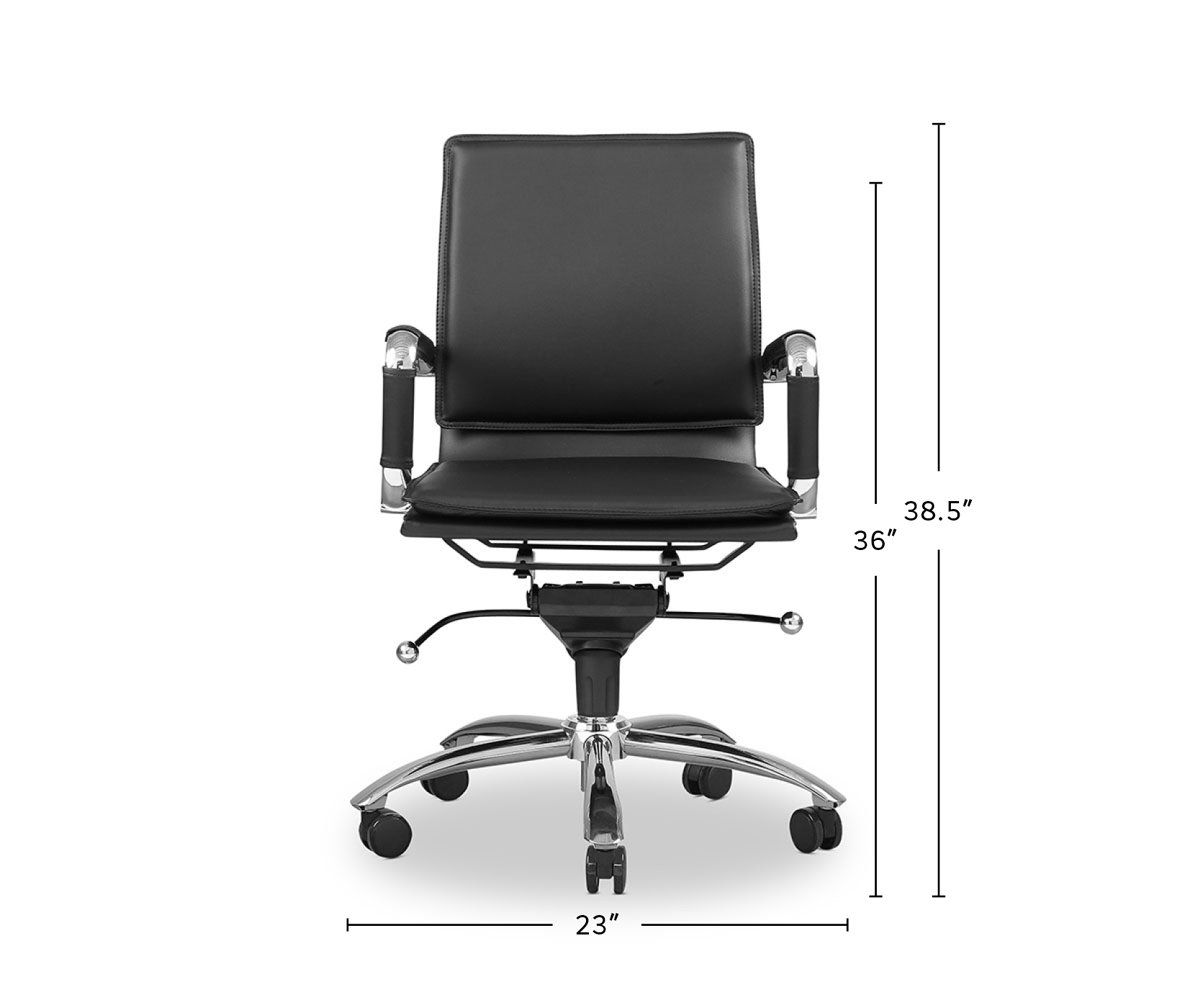 Brock Low Back Office Chair In 2020 Office Chair Chair Steel Frame