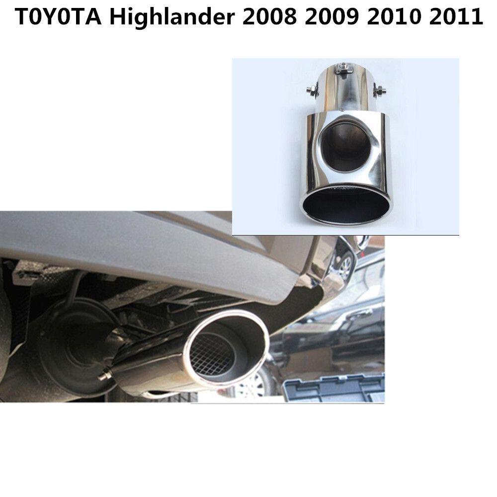 For Toyota Prado FJ120 2003-2009 Exhaust End Tip Pipe Muffler Cover Steel 1pcs
