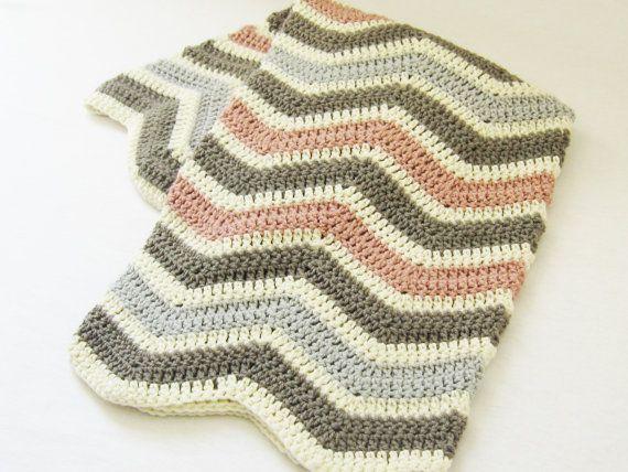 Crochet Pattern Chevron Baby Blanket Babykids Pinterest