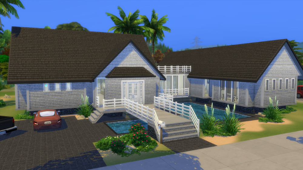 Unabridged Decided To Recreate My All Time Favourite House From The Sims 3 When I First Saw This House In Sunse Modern Beach House Sunset Valley Island Living