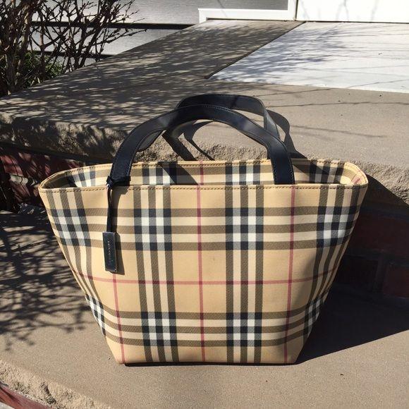 100 Vintage Burberry Nova Check Tote Burberry Bag Tote Louis Vuitton Bag Neverfull