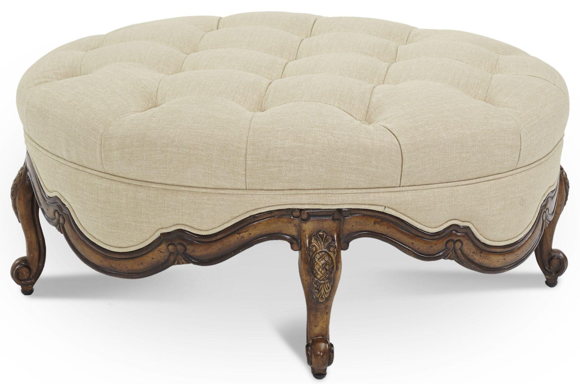 Remarkable Lavelle Melange Wood Trim Round Cocktail Ottoman Diy Short Links Chair Design For Home Short Linksinfo