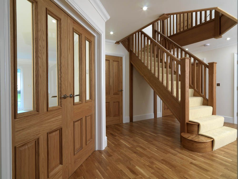 Traditional Panelled Style Interior Door In Pre Finished Oak Jb
