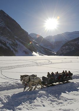 A Sleigh Ride at Lake Louise, Alberta, Canada