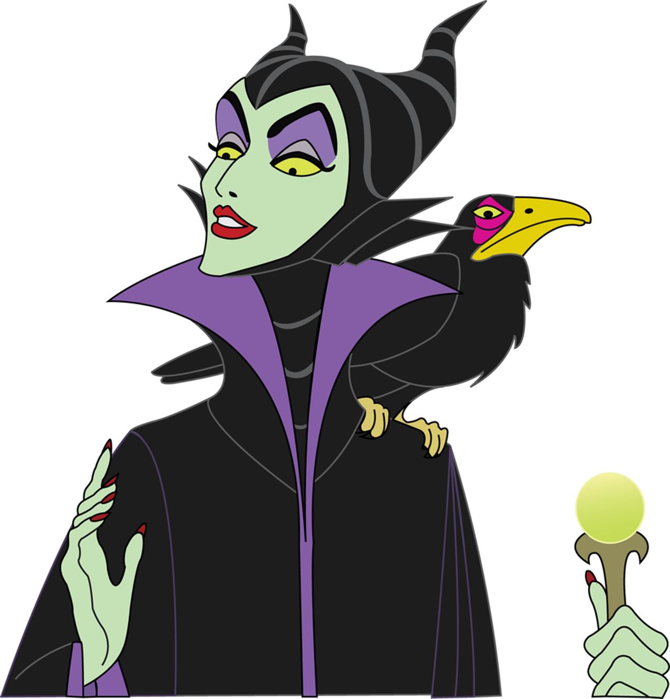 Maleficent W Crow Cartoon Color Inspiraton Disney