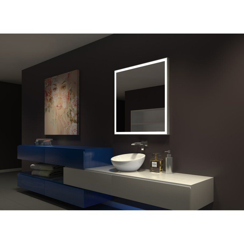 square vanity mirror with lights. Paris Mirror Dimmable Galaxy Illuminated Square Vanity 6000K  GALA36366000D Durable