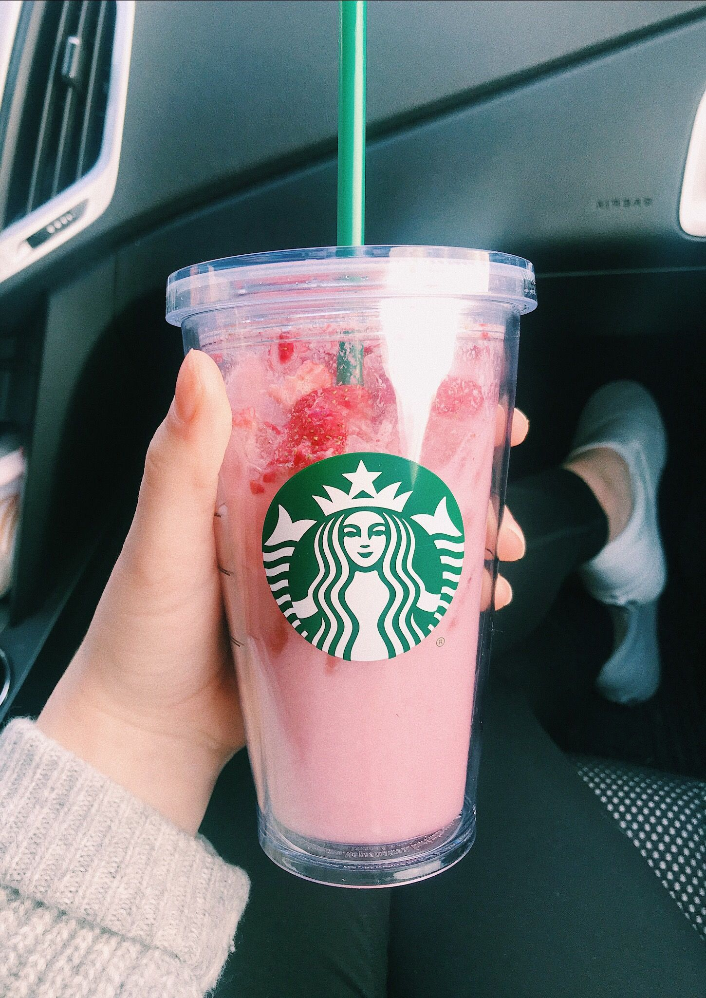 Starbucks Pinkdrink Strawberry Aesthetic Vsco Pink -1501