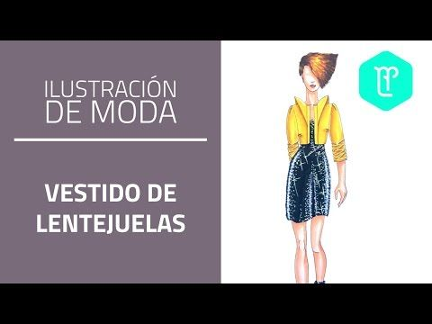 Cómo colorear un vestido de lentejuelas paso a paso: tinta y esmalte - YouTube