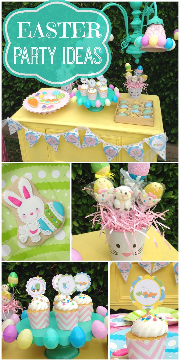 Check out these super cute ideas for an Easter party for children!  See more party ideas at CatchMyParty.com!