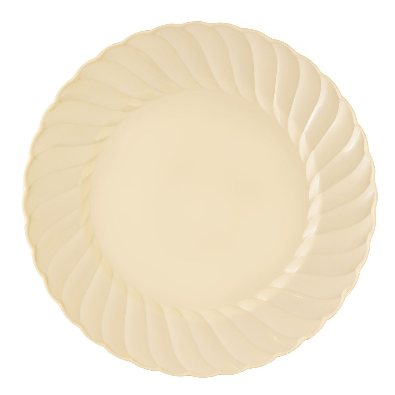Plastic 6 Inch Beige Round Dessert Plate Case Of 180 Tags Plates