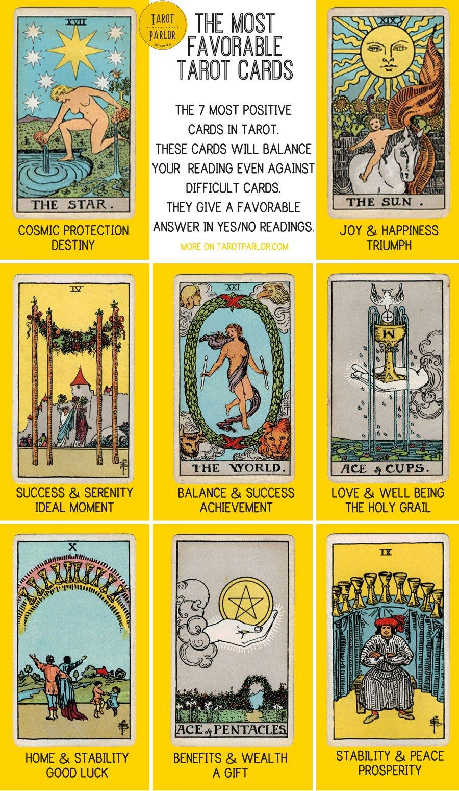 Tarot And More 3 Tarot Symbolism: Most Positive Tarot Cards