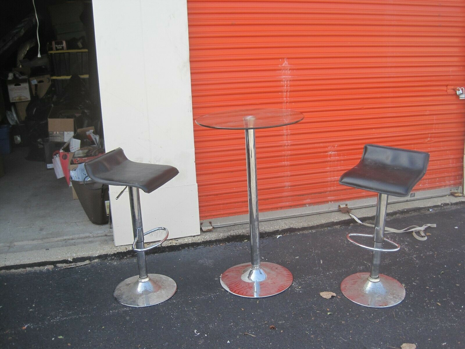 Vintage Glass Table 2 Bar Stools See Pics Bar Stools Ideas