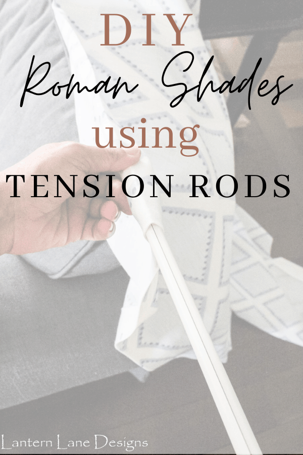 DIY No Sew Roman Shades. How to make no sew faux roman shades using just tension rods. Such an easy DIY project to update your windows on a budget #DIYprojects #DIYhomedecor #homedecor