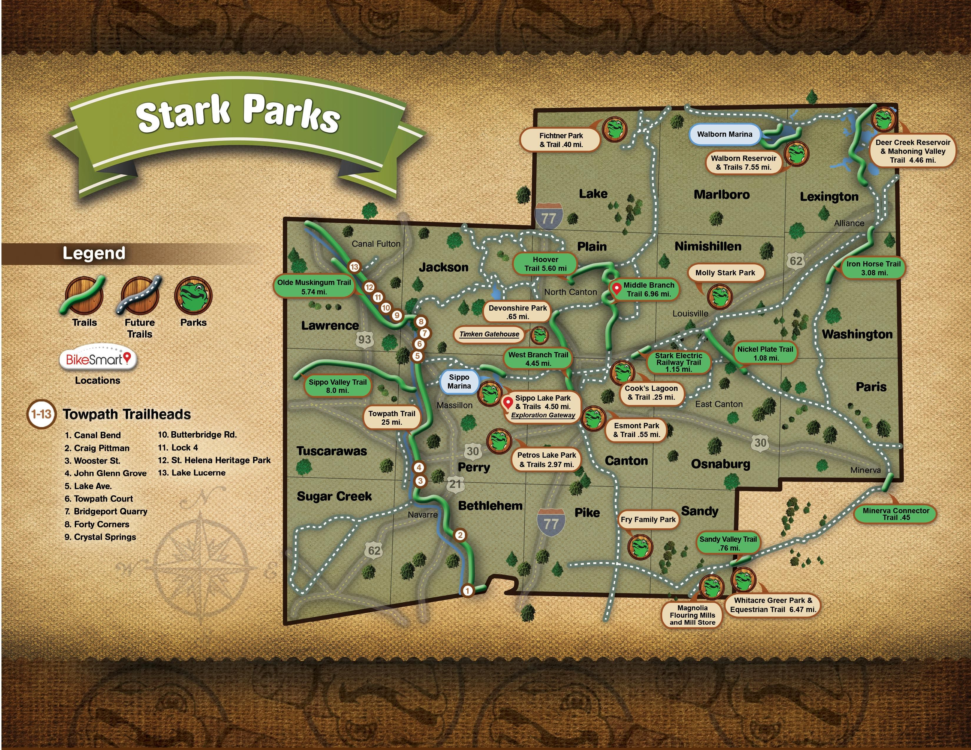View the full starkparks map and trail
