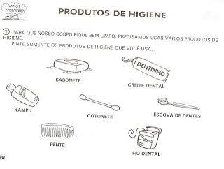 Resultado De Imagem Para Atividades Higiene Pessoal Educacao