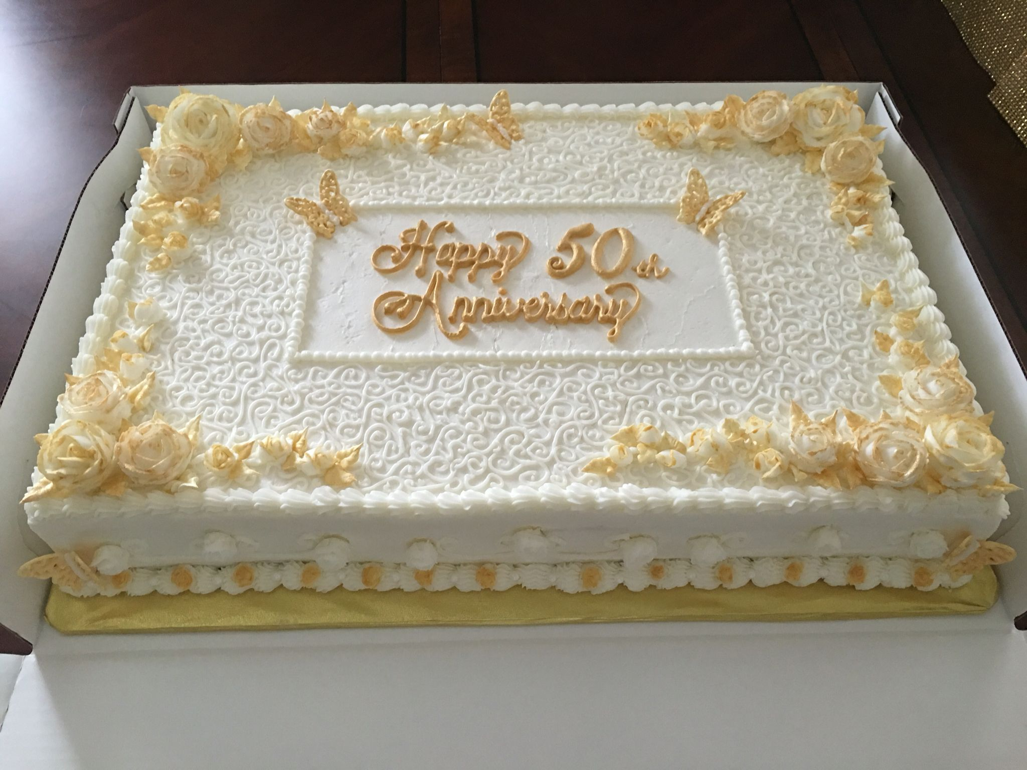 Anniversary Sheet Cake By Tried And True Home Bakery 50th