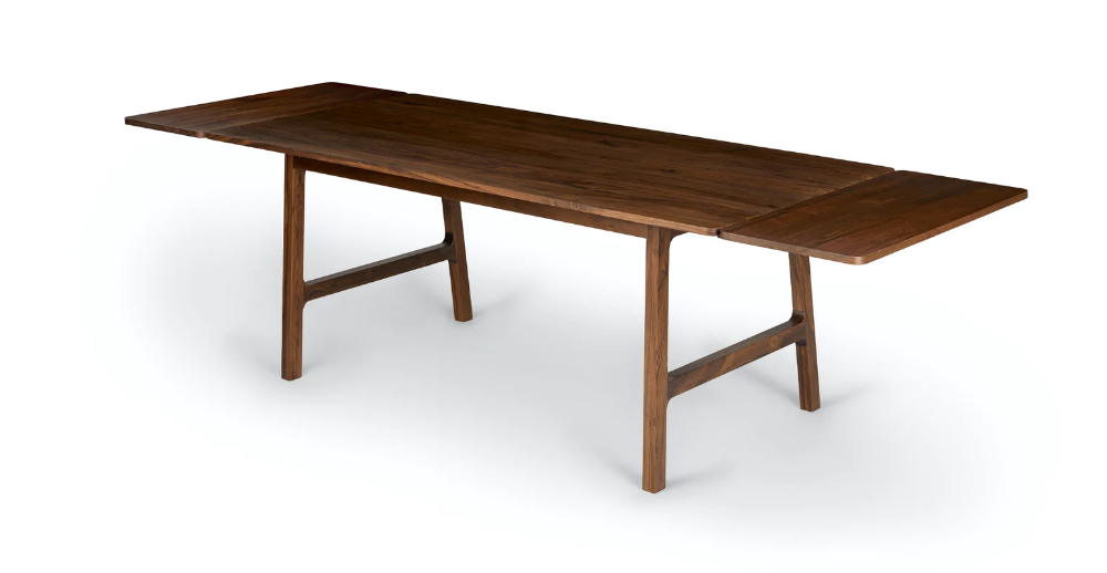 Kirun Walnut Dining Table Extendable In 2020 Walnut Dining
