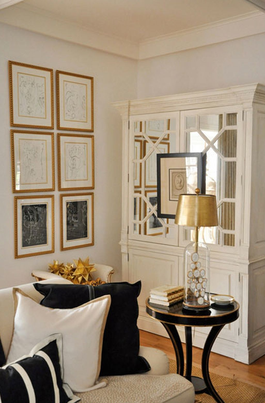 43 Cozy and Elegant Ivory Living Room Ideas   Gold living ...