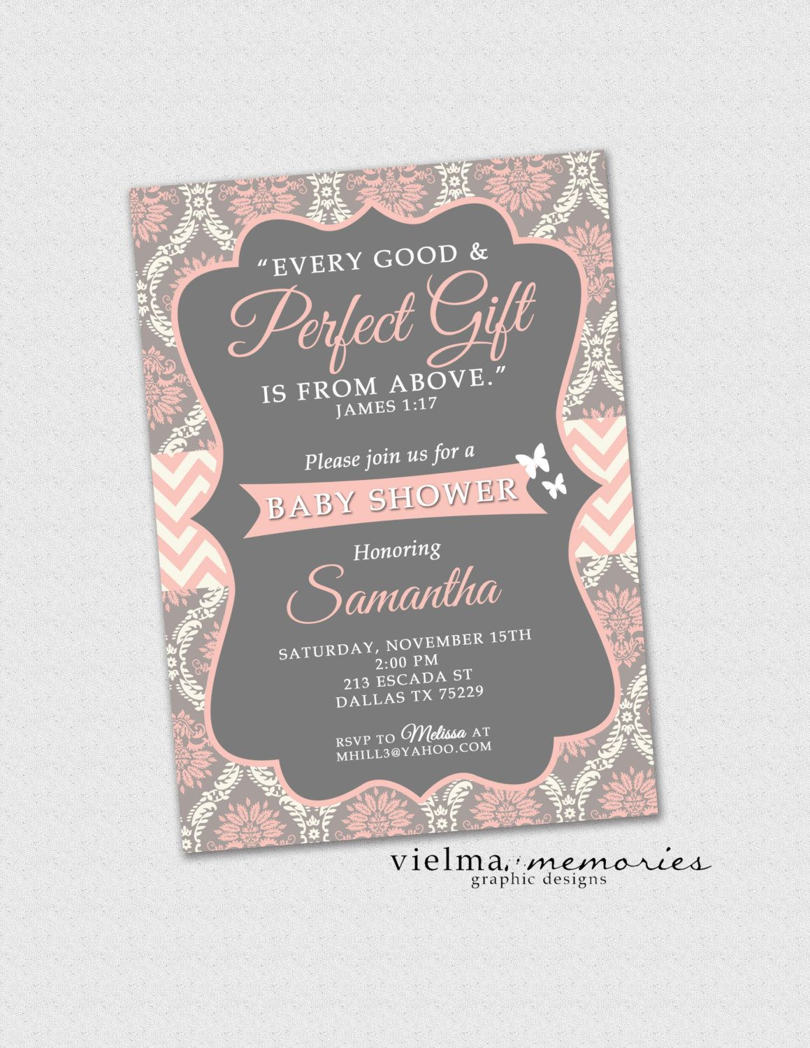 Baptism Invitation Girl Baptism Dedication Christening Boho