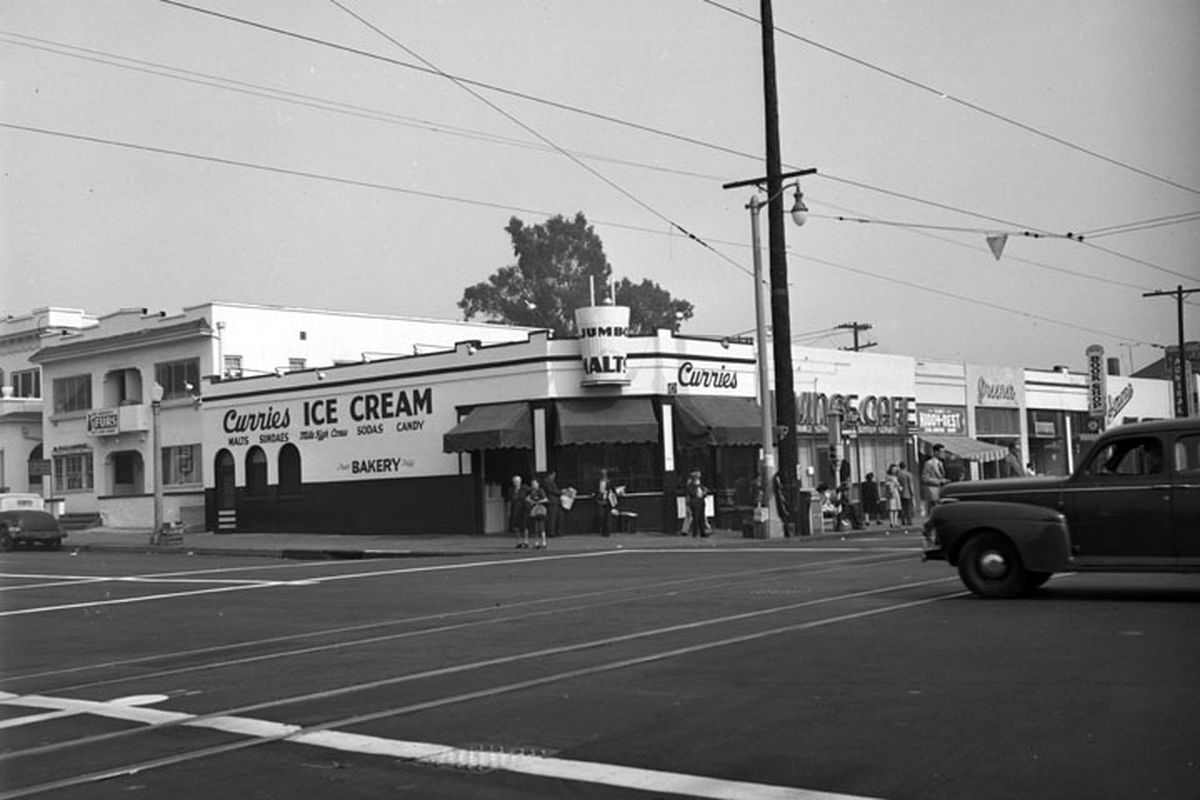 This Currie S Ice Cream Shop Was On What Is Now The Northeast Corner Of Soto Street And Cesar Chavez Avenue In Boyle Boyle Heights East Los Angeles Los Angeles