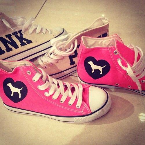 Vs Pink High Tops Everything Victoria S Secret Pink Pinterest