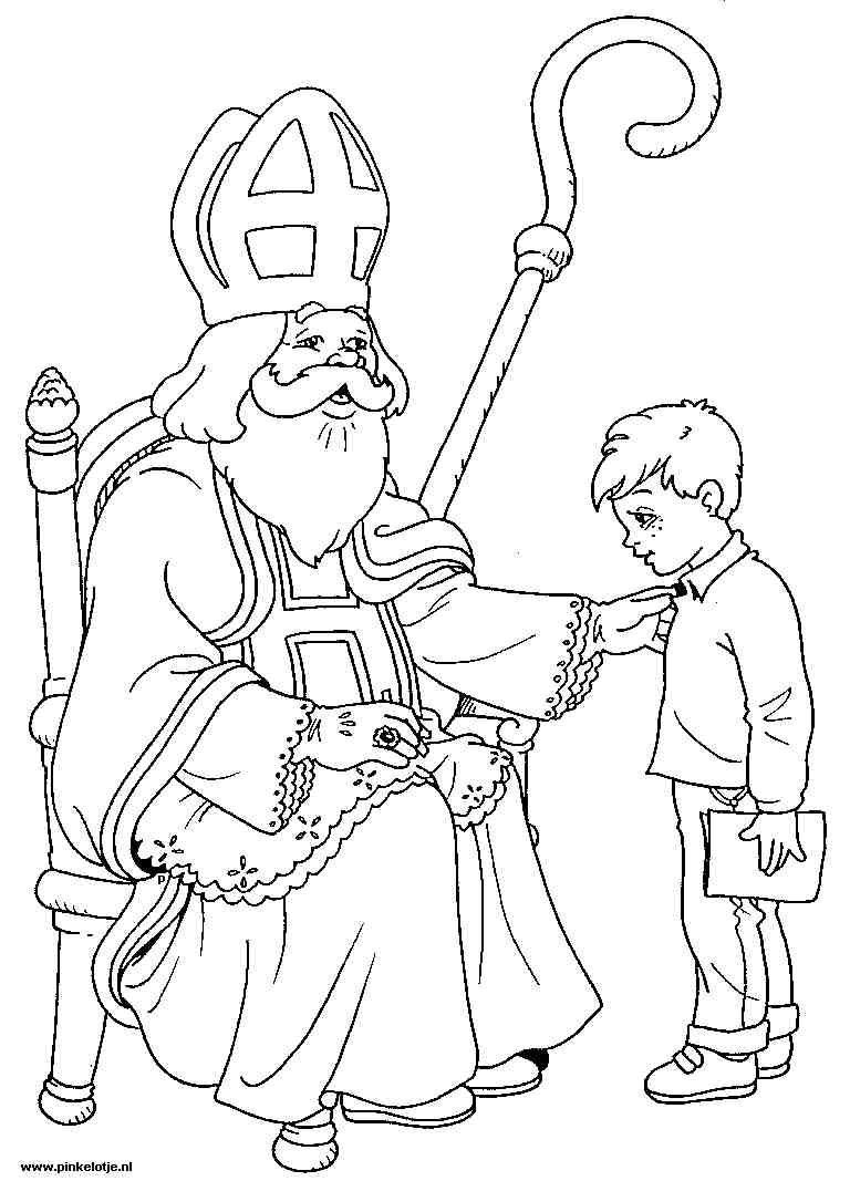 Dutch St Nicholas Sketch Ilike Cool Coloring Pages Saint