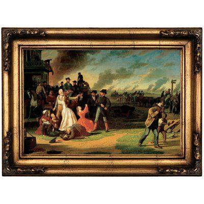 Astoria Grand \'Order Number 11 1865\' Framed Oil Painting Print on ...