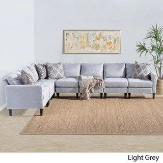 Outstanding Zahra 7 Piece Fabric Sectional Sofa Set By Christopher Uwap Interior Chair Design Uwaporg