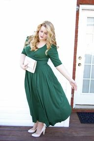 #eshakti emerald green dress