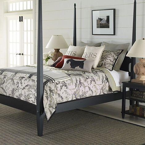 Dark Wood Bed Frame Farmhouse
