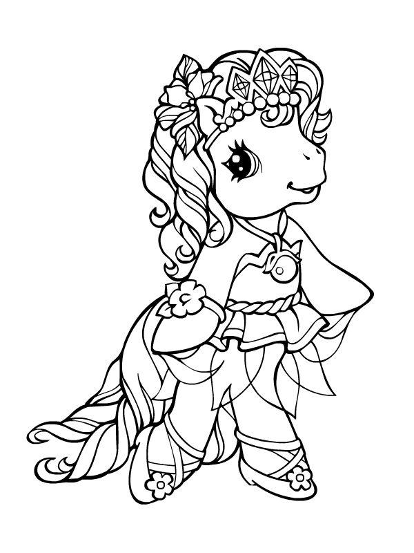 Jolie princesse poney | Mes coloriages 0 | Coloriage mon petit poney, Coloriage et Coloriage poney