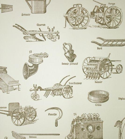 Tooled Up Wallpaper Antique Tools Wallpaper Barn Interior